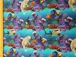 Finding Nemo and Dory  material - Jersey Fabric 95% Cotton 5% Spandex - Price Per Metre